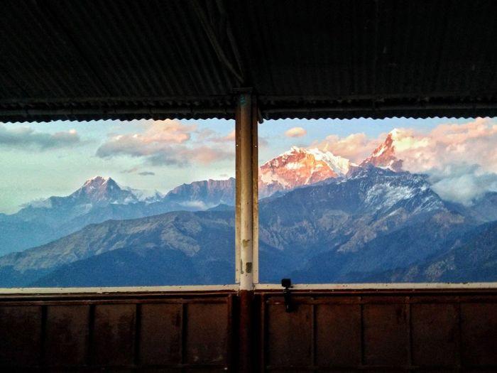 Snowcapped himalayas mountains