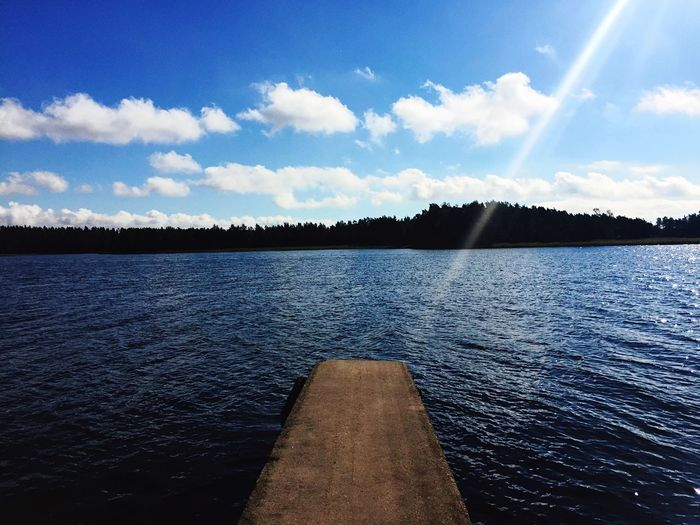 Nature Water Sky Tranquil Scene Outdoors Finland Boardwalk Peaceful Lake