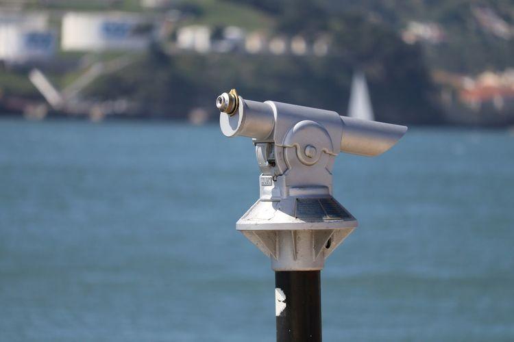 Coin-Operated Binoculars By Sea