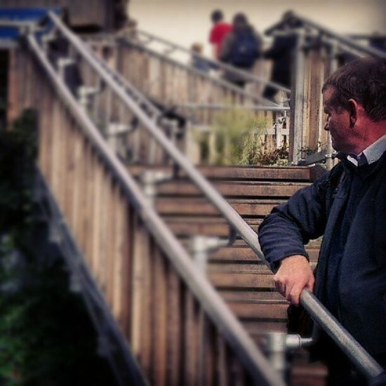 Watching. London Southbank Stairs