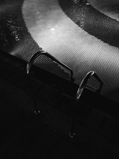 High angle view of chairs on floor