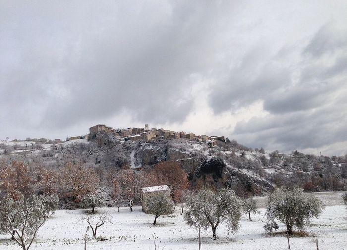 Macchiagodena in Winter Snow Winter Nature Borghipiúbelliditalia , Molise Shades Of Winter