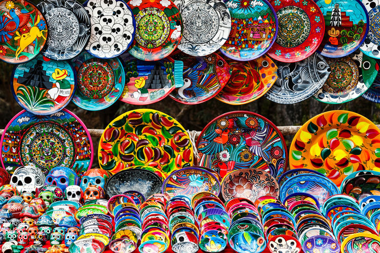 Full frame shot of multi colored candies for sale at market stall