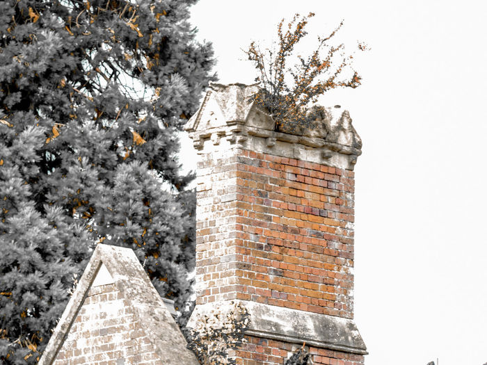 chimney Chimney Architecture Building Building Exterior Built Structure Cold Temperature Day History Low Angle View Nature No People Outdoors Plant Sky Stone Wall The Past Tower Tree Wall Winter