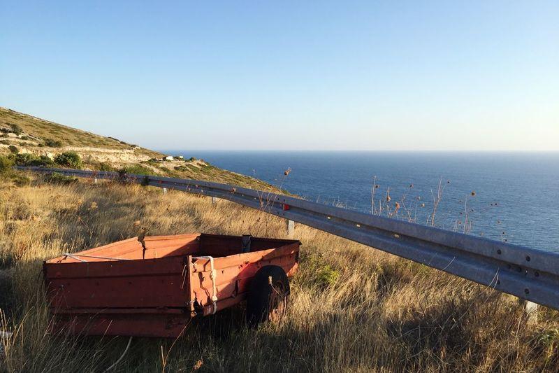 Croatia Dugi Otok Adriatic Sea Old Car Water Sea Sky Horizon Clear Sky Land Tranquility Beauty In Nature Horizon Over Water