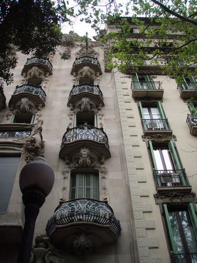 Architecture Barcelona Building Built Structure Europe Historic Lookingup Low Angle View Sky SPAIN Trees