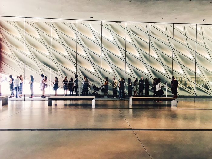 Large Group Of People Men Real People Indoors  Women Leisure Activity Lifestyles Day Airport Sitting Architecture Sky Adult People Adults Only Thebroad Queuing EyeAmNewHere