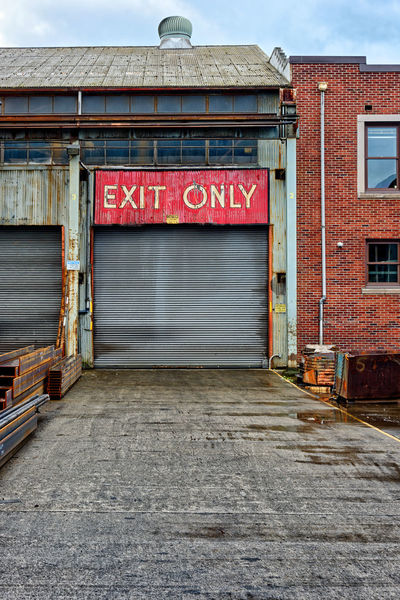 Port Of Seattle Rain Seattle Seattle, Washington Architecture Building Exterior Built Structure Day Exit Factory Factory Building Loading No People Outdoors Rainy Street Street Photography Streetphotography Wet
