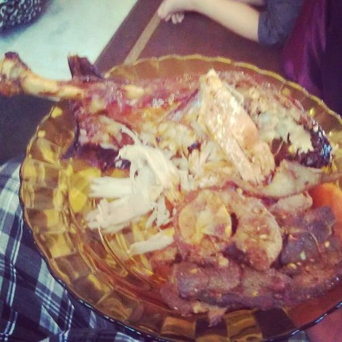 Carved turkey and lamb :9 Newyearsgathering .