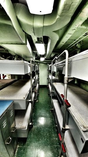 Sleeping quarters in the SS Turner Joy Indoors  Sleeping Quarters Bunk Beds No People Warship Phone Photography Mattress Naval Ship