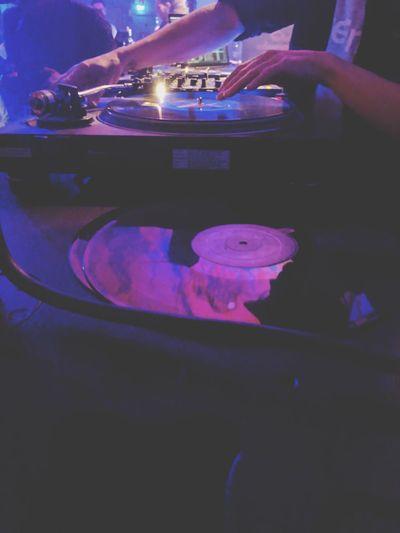 BPW18 Human Hand Dj Illuminated Music Arts Culture And Entertainment Sound Mixer Close-up
