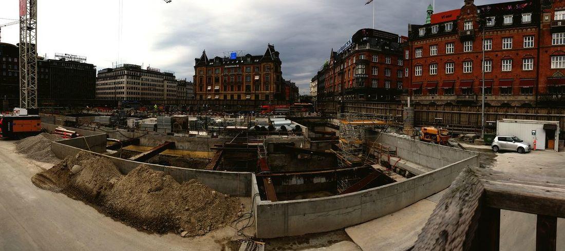 Metro copenhagen townhall construction site Copenhagen