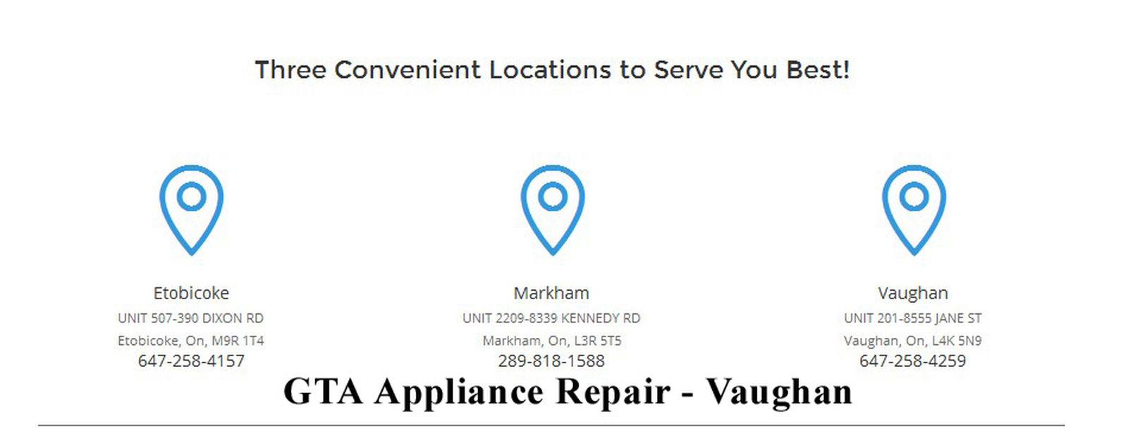 GTA Appliance Repair, 8555 Jane St #201, Vaughan, ON L4K 5N9, (647) 258-4259, http://gtaappliancerepairs.ca/vaughan.html Appliance Repair In Vaughan Appliance Repair In Vaughan ON Appliance Repair Vaughan Appliance Repair Vaughan ON Best Appliance Repair Vaughan Top Appliance Repair Vaughan Top Appliance Repair Vaughan ON Vaughan Appliance Repair Vaughan ON Appliance Repair
