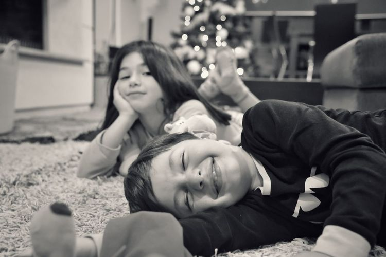 Kidsphotography Siblings Happiness Lying Down Cheerful Togetherness Smiling Children Childhood Christmastime Children Photography Christmas Around The World Brother & Sister Blackandwhite Two People Beautiful People Santa's Little Helper Photography Themes Kids Being Kids Blackandwhite Photography The Week On EyeEm EyeEm Gallery Happy Christmas Kids Be. Ready.