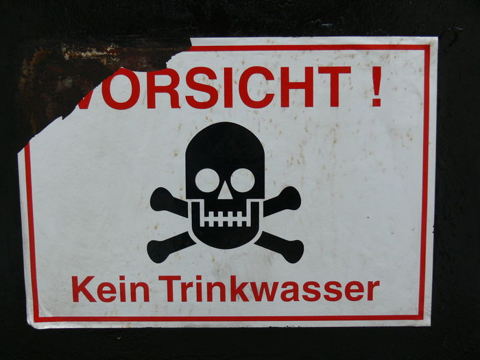 Close-up Communication Danger Day Don't Drink The Water Kein Trinkwasser No People Outdoors Red Text Warning Warning Sign