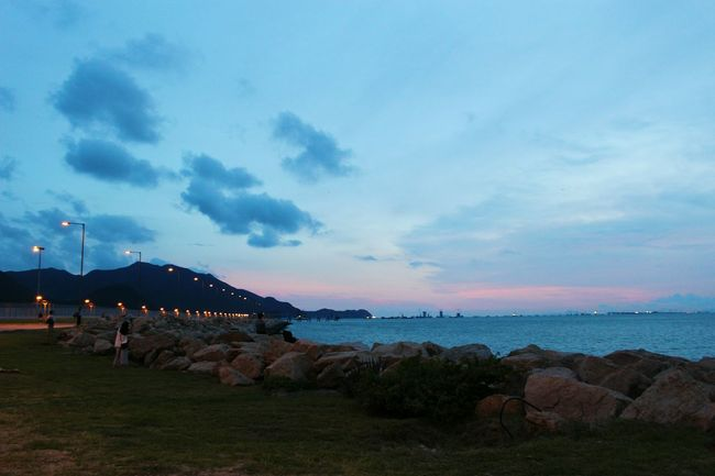 2015 Life In Hong Kong · Enjoying Life Lovelife HongKong Airplane Photooftheday Sky Eye4photography  Seaside Sky And Clouds
