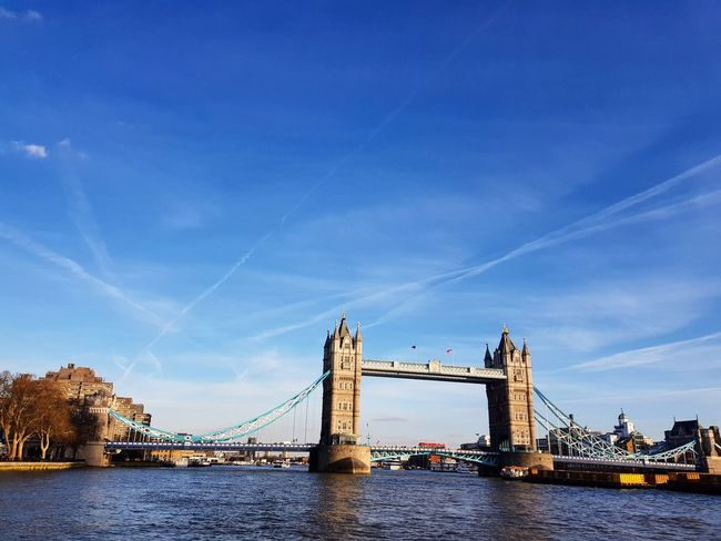 London at it's best #london #bridge #travelinstyle #travelphotography #river #thames #londonbridges #towerbridge #water #bluesky #city #citylife #cityscape #spring #londonlife #lovelondon City Cityscape Urban Skyline Water Suspension Bridge Bridge - Man Made Structure River Copy Space Sky Architecture Skyscraper Skyline Tower Tall Communications Tower High Rise Historic Office Building Bascule Bridge Stories From The City Adventures In The City