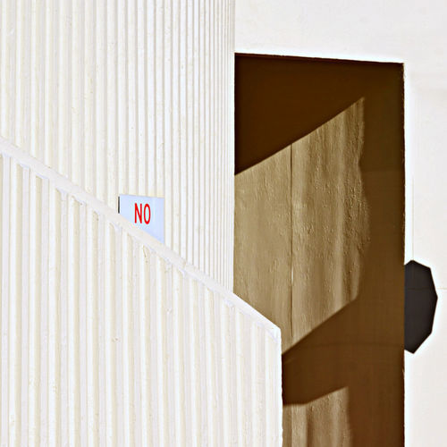 Afternoon Light on White Concrete Architectural Wall Detailing with Diagonal Line and No Entry Wall Sign Australia Backgrounds Brisbane Built Structure Close-up Concrete Texture Day Doorway Modern No People Repitition Ribbed Wall Shadow Shadows & Lights Staircase Steffentuck Urban Urban Landscape Urbanphotography Wall Textures White