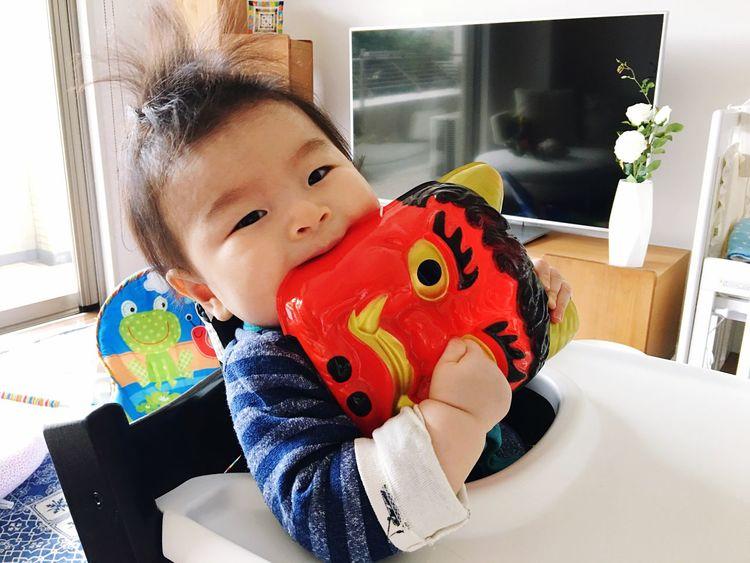winner is my son👶🏻🙌🏻🆚👹 Winner Bite Babyboy ONI Indoors  Childhood Babyhood Demon Innocence Setsubun 節分 Oursweetbaby Love ♥ 20170203