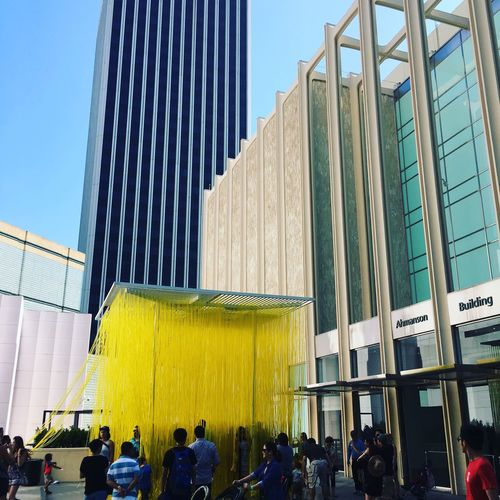 LACMA | Los Angeles, Ca | June 2016 Architecture Building Exterior Built Structure City Large Group Of People City Life Modern Low Angle View Skyscraper Tall - High Person Men Office Building Building Story Clear Sky Tower Travel Destinations Development Tall Day