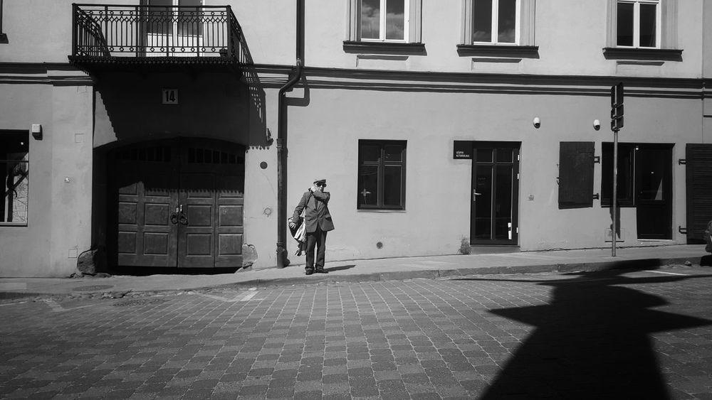 Vilnius Lithuania City Older Man Black And White First Eyeem Photo