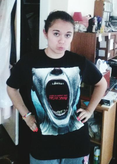 Guys I'm in love with my new AHSFREAKSHOW shirt 😍😎😈