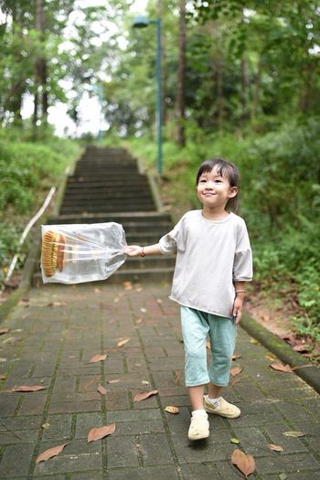 Full Length Childhood One Person Innocence Casual Clothing Emotion