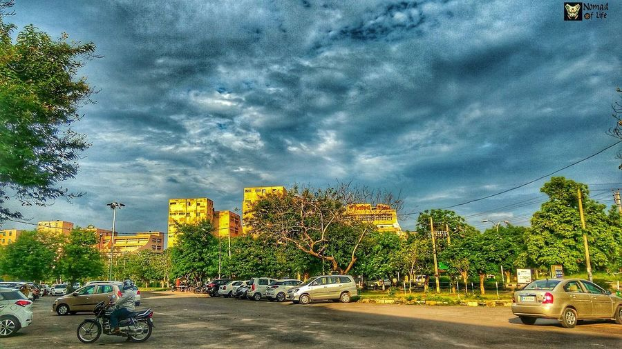 The colours are just magical... Land Vehicle Transportation Motorcycle Cloud - Sky Car Sky Mode Of Transport Tree Outdoors Night Architecture Building Exterior City Nature People Astronomy Dramatic Sky Multi Colored Nature Travelgram Landscape Cloudscape City Day Freshness