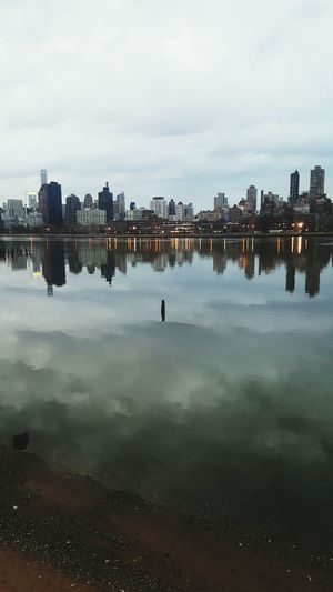 From My Point Of View Urban Landscape New York City East River, NYC Reflections Like A Painting Shades Of Grey The KIOMI Collection City Manhattan Skyline Adapted To The City