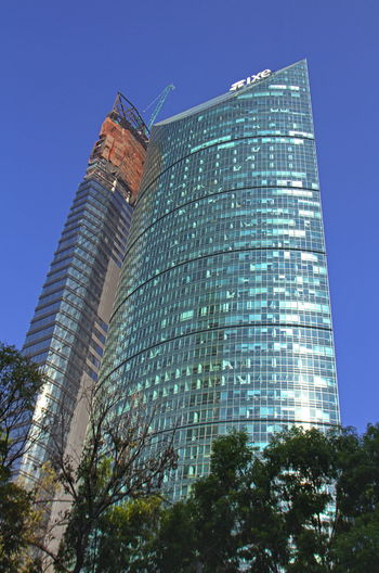 Skyscrapers of Mexico, Torre Mayor, CDMX, Mexico City, Mexico Torre Mayor Mexico City Bussiness Bussines Center Ixe Architecture Blue Building Exterior Built Structure City Clear Sky Day Illuminated Modern No People Office Park Outdoors Sky Skyscraper Steel Tower Colour Your Horizn EyeEmNewHere