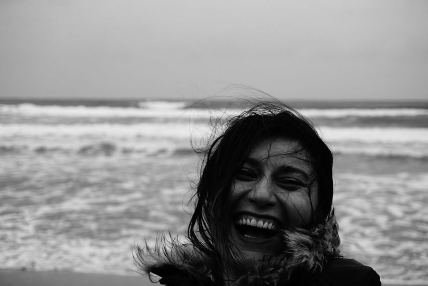 Portrait Smile Water Sea Horizon Over Water One Person Real People Beach Mouth Open Nature Happiness Young Women Beauty In Nature