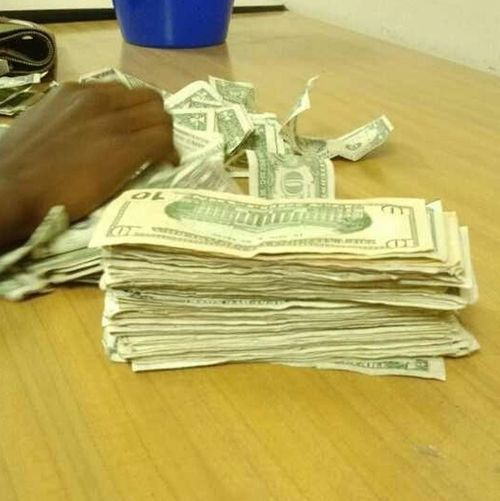 Up late counting my money