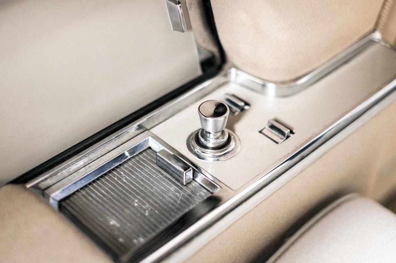 Interior Of Vintage Car
