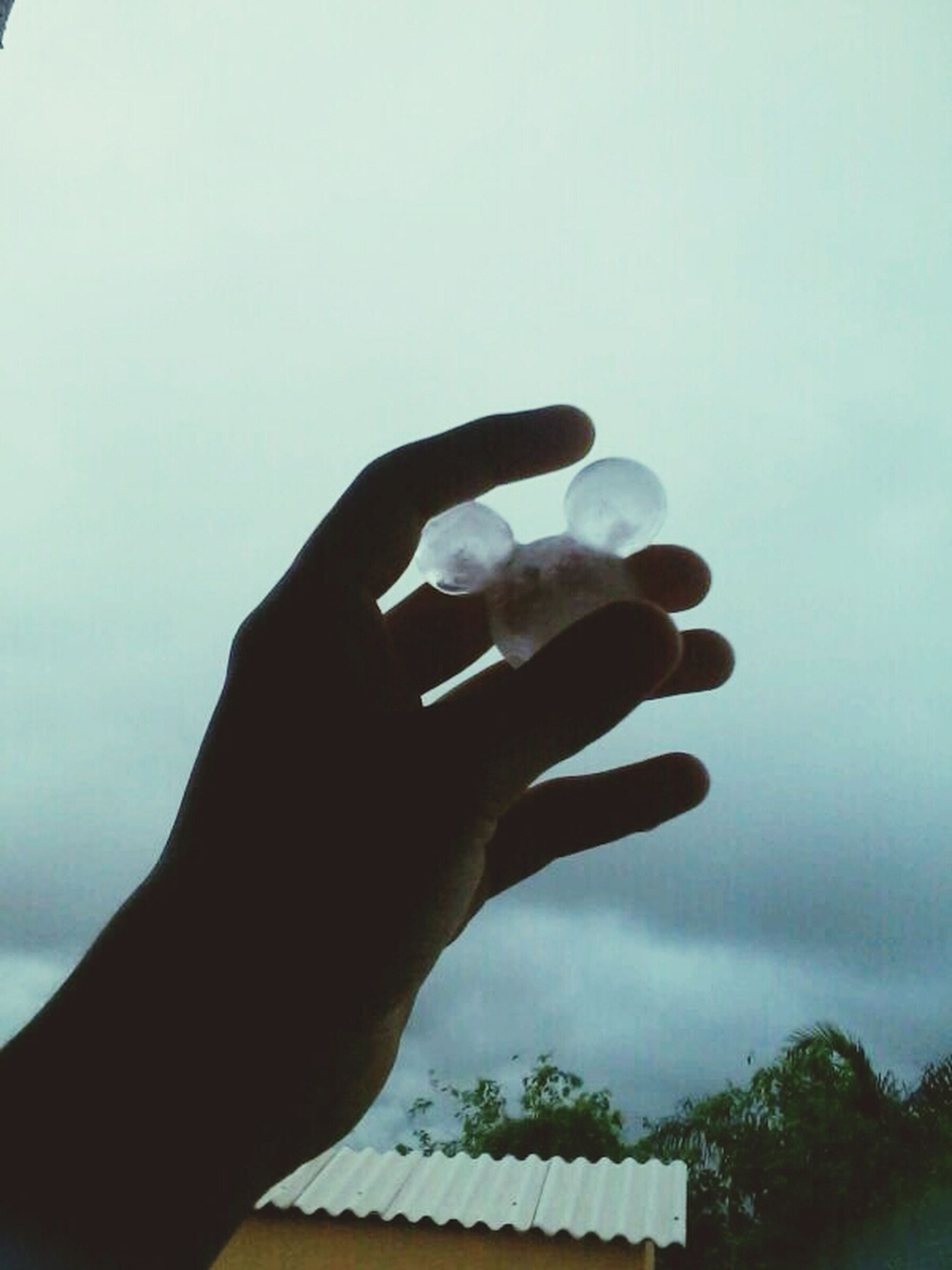 person, human finger, part of, holding, cropped, sky, unrecognizable person, low angle view, lifestyles, personal perspective, leisure activity, men, close-up, silhouette, nature, day, outdoors