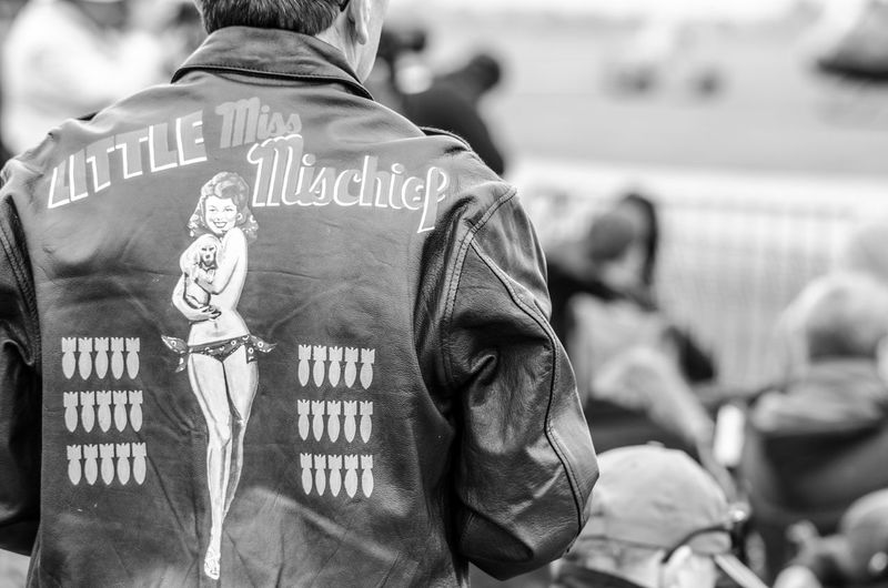 1940s 40s Airport Airshow Black & White Black And White Photography Blackandwhite Blackandwhite Photography Bomb Casual Clothing Close-up Focus On Foreground Leisure Activity Little Mischief Miss Outdoors Pinup Retro Selective Focus