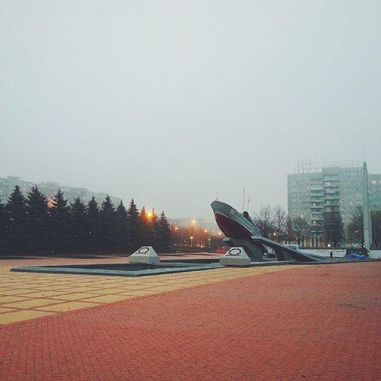 Vscocam катер моспроспект калининград утро туман ноябрь