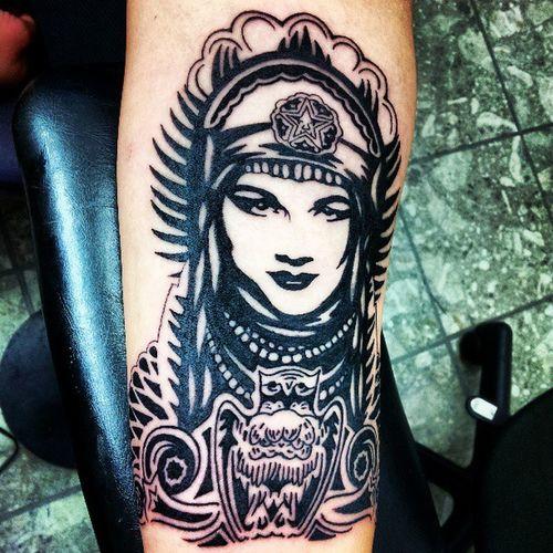 Got my Tattoo done... Early B-Day to me... :) Freshtattoo PeaceGoddess OBEY