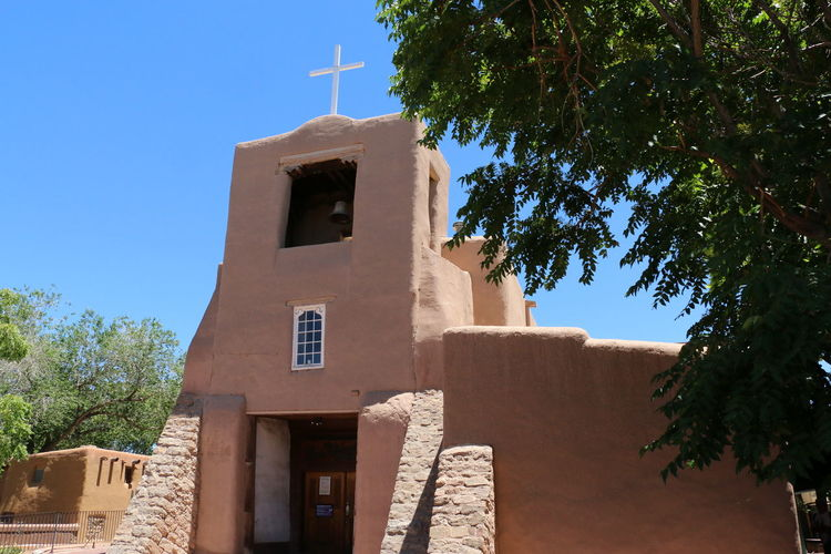 Sante Fe Mission EyeEm Selects Tree Place Of Worship Religion History Blue Tower Roof Old Ruin Bell Tower