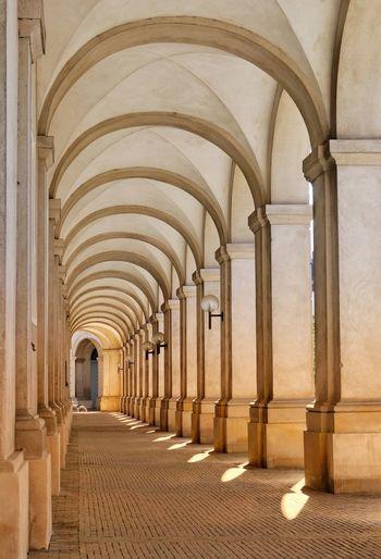 Corridor of historic building