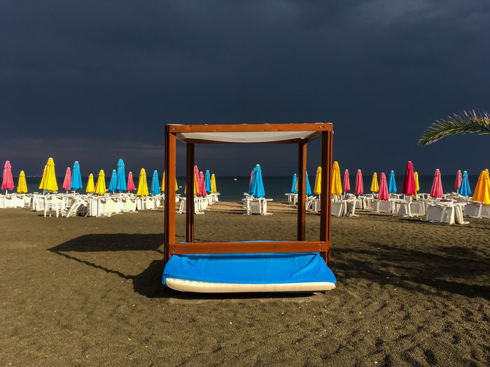 The Passing Storm Summer Empty Beach Holiday Vacation Stormy Sky Summertime Seaside Bulgaria Perspective Storm Sky Beach Photography Beach Multi Colored Day Sea Sunlight Horizon Tranquility No People Outdoors Cloud - Sky My Best Photo The Mobile Photographer - 2019 EyeEm Awards