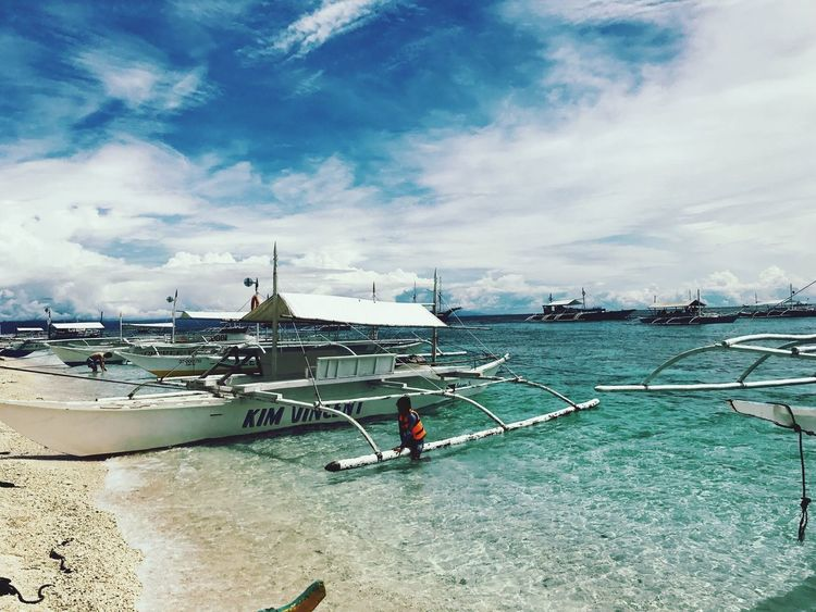 Your Ticket To Europe Water Crytalwater Clear Water Mode Of Transport Outdoors Beauty In Nature Calmness Beach Peaceful Place EyeEmNewHere Balicasag Bohol Cebu Philippines