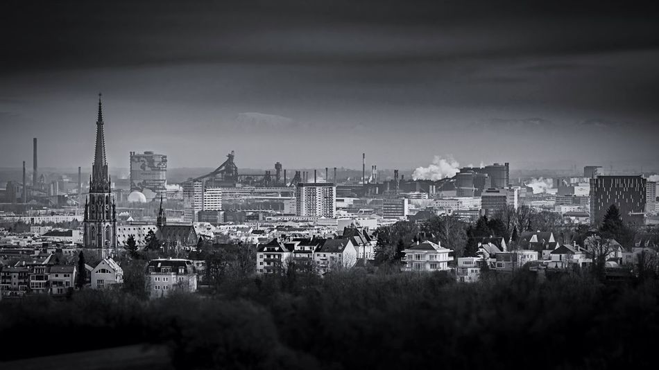 Cityview LINZ/Austria Hanging Out Taking Photos Hello World Enjoying Life Check This Out City Lights City Cityscapes Linz Austria Upperaustria Steelcity Stadtliebe Hometown Capitol Voest Church Landscape Blackandwhite Monochrome Schwarzweiß