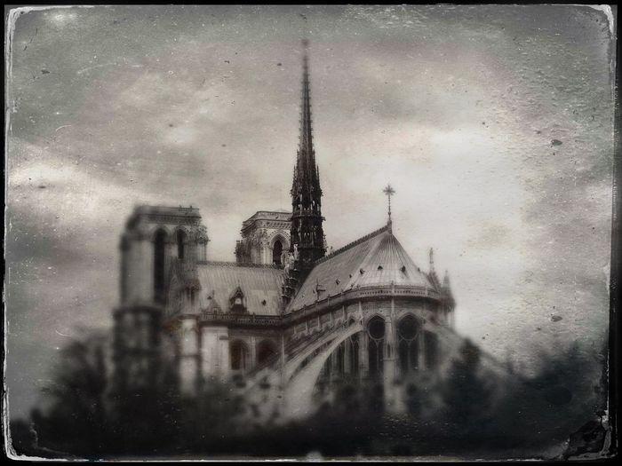 Architectural Tintype 2 Notre Dame, Paris