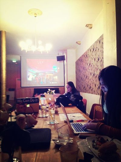 Friday Evening Work Session With The Fabulous @BerlinGeekettes Ladies