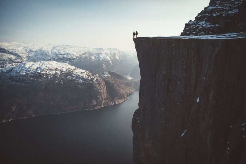 Minimal Fjords Norway Roadtrip Travel Sunset Power In Nature Explore Outdoors Landscape Mountains Nature Vscocam EyeEm Best Shots Exploring Winter Preikestolen The Great Outdoors - 2016 EyeEm Awards
