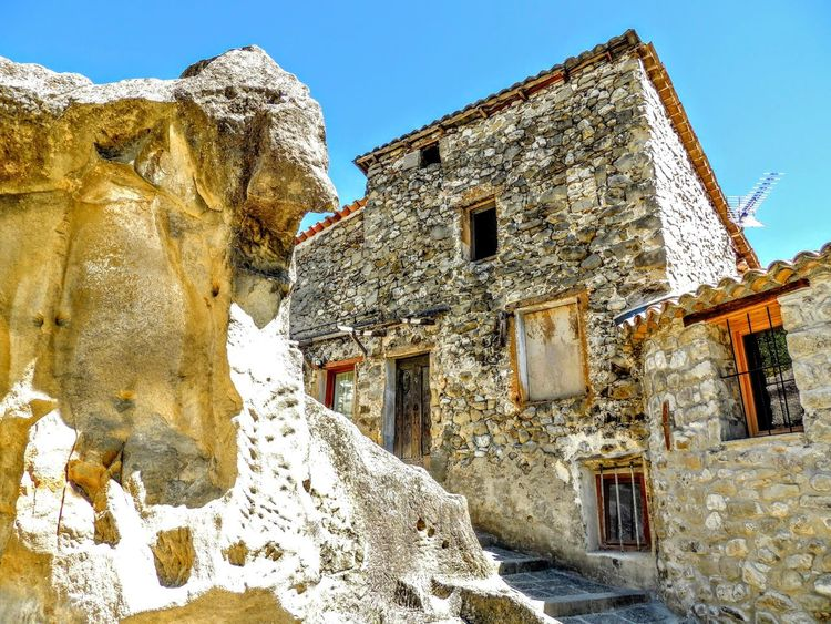 Provence Provence Alpes Cote D´Azur Architecture Beauty In Nature Building Exterior Built Structure Clear Sky Cold Temperature Day House Low Angle View Nature No People Outdoors Provence Village Sky Snow Winter