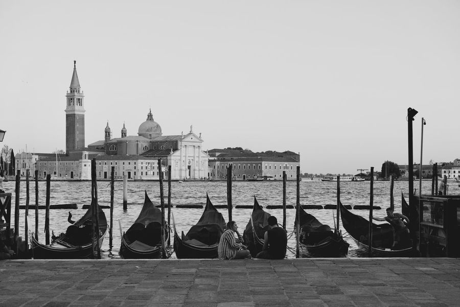 Black & White Getty Images Getty X EyeEm Gondola Architecture Belief Black And White Blackandwhite Photography Building Building Exterior Built Structure Canal Gondola - Traditional Boat Nature Nautical Vessel Outdoors Place Of Worship Religion Sea Sky Spirituality Street Travel Travel Destinations Water