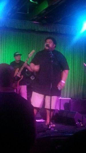 Brutha Walter of Kava Kreation. Enjoying A Concert Live Music Reggae Hawaiian Style