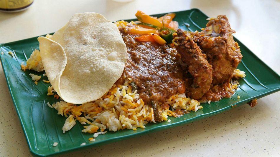 Nasi Briyani Indian Food Sgfood Foodporn Rice Papadum