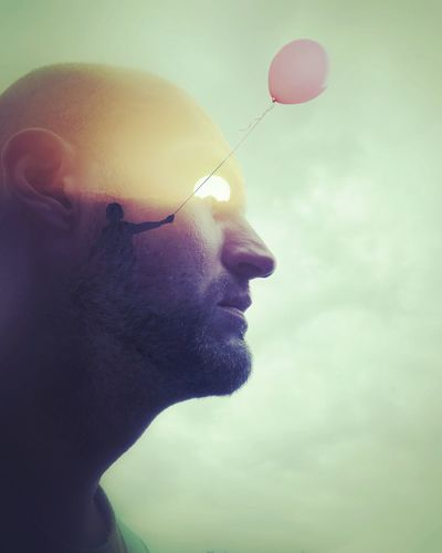 It's always the sun. Mobileartistry Doubleexposure Selfportrait